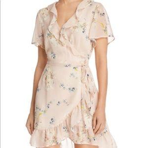 PAIGE Cardamom Floral Wrap Dress